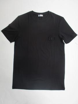 2020年春夏新作 ディオールオム(DIOR HOMME) メンズ トップス Tシャツ 半袖 ロゴ CDロゴ刺繍入りTシャツ ブラック 013J600A 0589 989