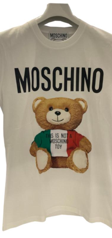 モスキーノ(MOSCHINO) メンズ トップス Tシャツ 半袖 ロゴ 2color MOSCHINO BEAR転写プリント付きTシャツ 白/黒 ZPV0720 2040 1001/1555