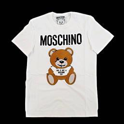 モスキーノ(MOSCHINO) メンズ トップス Tシャツ 半袖 ロゴ 2color MOSCHINO BEAR刺繍ロゴ付きTシャツ 白 ZDA0774 240 1001/1555 (R66000)