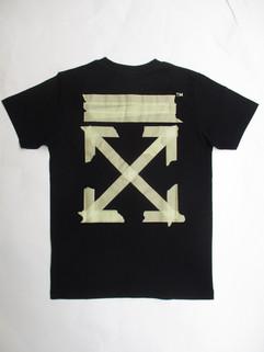 オフホワイト(OFF-WHITE) メンズ トップス Tシャツ 半袖 ロゴ 2color チェスト部分OFFロゴ・バックテープアローロゴプリント付きTシャツ 白/黒 OMAA027R 20185002 0148/1048