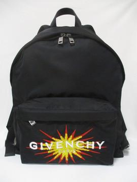 2020年春夏新作 ジバンシー(GIVENCHY) メンズ 鞄 バック バックパック リュック ロゴ ユニセックス可 GIVENCHY刺繍ロゴワッペン付きバックパック 黒 ブラック BK500J K0U0 017