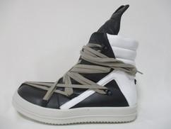 2020年春夏新作 リックオウエンス(RICK OWENS) メンズ 靴 スニーカー ハイカットスニーカー TECUATL GEOBASKET マルチシューレース・レースアップハイカットスニーカー 白/黒 RU20S7894 LTYW1 110/09110