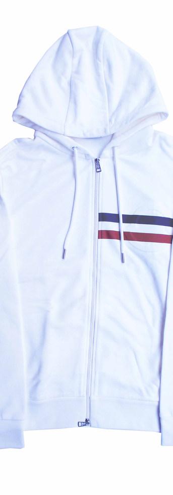 モンクレール(MONCLER) メンズ トップス パーカー フーディー ロゴ 2color エンボス加工MONCLER枠線ロゴ・ジップロゴ刻印付きジップパーカー 白/黒 8G79510 809KR 034/999 (R89100)
