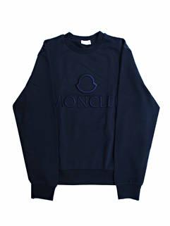 モンクレール(MONCLER) メンズ トップス スウェット トレーナー ロゴ フロントMONCLERロゴ刺繍付スウェット ネイビー 8G79610 809KR 778 (R66000)