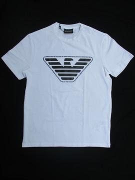 エンポリオアルマーニ(EMPORIO ARMANI) メンズ トップス Tシャツ 半袖 ロゴ EMPORIO ARMANIロゴ・ビッグイーグルロゴ付Tシャツ 白 3H1T92 1J0AZ 0100
