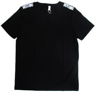 モスキーノ(MOSCHINO) メンズ トップス Tシャツ 半袖 ロゴ 2color ショルダー部分MOSCHINOロゴ・バックスモールロゴ付Tシャツ 白/黒 A1921 8136 1/555