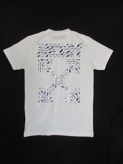 オフホワイト(OFF-WHITE) メンズ トップス Tシャツ 半袖 ロゴ 2color フロントOFFロゴ・OFF-WHITE総柄ランゲージアローロゴプリント付きTシャツ 白/黒 OMAA027S 20185003 0188/1088