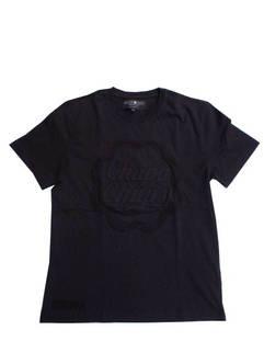 ハイドロゲン(HYDROGEN) メンズ トップス Tシャツ 半袖 ロゴ チュッパチャップスエンボス加工ロゴ・裾部分HYDROGENロゴ刺繍付きTシャツ ブラック 284619 007 (R26400)