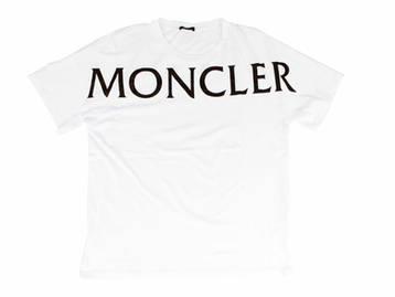 モンクレール MONCLER メンズ トップス Tシャツ 半袖 ロゴ 2color フロントビックMONCLERロゴプリント・バックロゴワッペン付きTシャツ ホワイト/ブラック 8C7C510 829H8 001 (R40700)