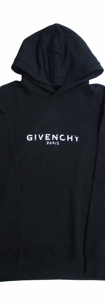 ジバンシー(GIVENCHY) メンズ パーカー トップス ヴィンテージ風ロゴ フーディ 2color ブラック 黒 レッド 赤 オレンジ BM700R 30AF 001 / 620