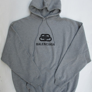 バレンシアガ BALENCIAGA メンズ トップス パーカー フーディ フロントBB/BALENCIAGAロゴプリント入りパーカー グレー 578135 THV78 1300