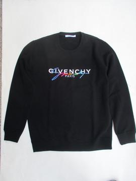 2020年春夏新作 ジバンシー(GIVENCHY) メンズ トップス パーカー フーディー ロゴ GIVENCHYロゴ・刺繍ロゴ付パーカー ブラック BMJ03D 30AF 001