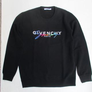 ジバンシー(GIVENCHY) メンズ トップス ニット セーター ロゴ 刺繍 GIVENCHYロゴ・被せ刺繍ロゴ入りクルーネックニット ブラック BM90B14 04X 001