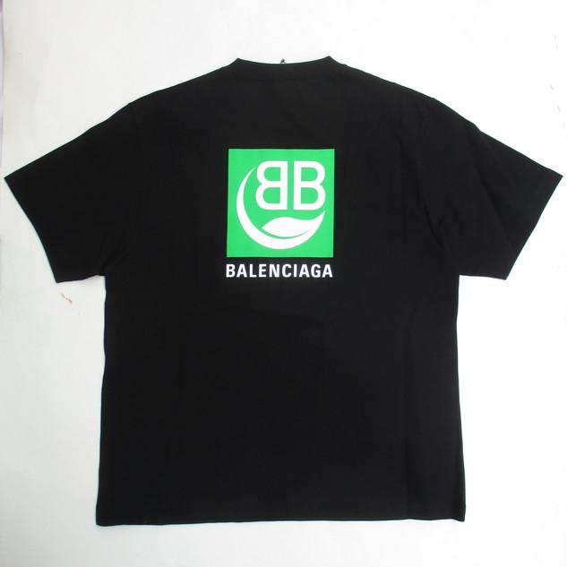 バレンシアガ(BALENCIAGA) メンズ トップス Tシャツ 半袖 ロゴ ユニセックス可 2color BBロゴ・リーフBALENCIAGAロゴプリントTシャツ 白/黒 594599 THV63 9000/1000