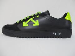 オフホワイト(OFF-WHITE) メンズ 靴 スニーカー ロゴ ネオンカラーシューレース・アローロゴワッペン付きスニーカー ブラック OMIA042F 19D68037 1062