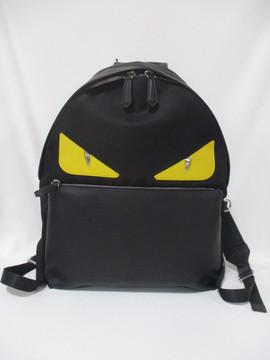 フェンディ(FENDI) メンズ 鞄 バッグ バックパック リュック ロゴ ユニセックス可 バッグバグズレザーロゴ・FENDIロゴ付きバックパック ブラック 7VZ012 A2FS F0R2A