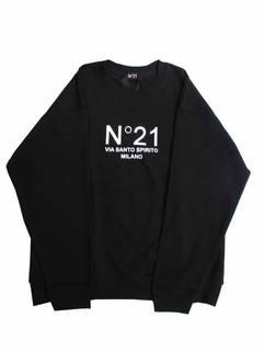ヌメロヴェントゥーノ(N°21) メンズ トップス スウェット トレーナー ロゴ 2color フロントN°21ロゴプリント付きスウェット ホワイト/ブラック E041 6315 1101/9000 (R39600)