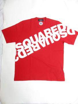 2020年春夏新作 ディースクエアード(DSQUARED2) メンズ トップス Tシャツ 半袖 ロゴ 4color DSQUARED2ビッグミラーロゴプリント付きTシャツ 白/黒ロゴ 赤 黒 白/赤ロゴ S74GD0664 S22427 963X/307/900/989X