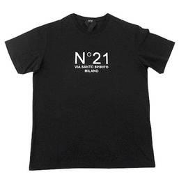 ヌメロヴェントゥーノ(N°21) メンズ トップス Tシャツ 半袖 ロゴ 2color フロントN°21ロゴプリント付きTシャツ 黒 F032 6316 1101/9000 (R28600)