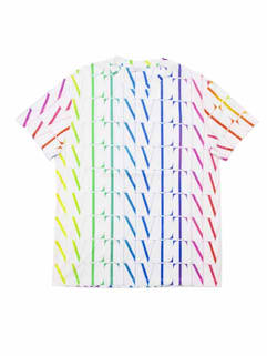 ヴァレンティノ(VALENTINO) メンズ トップス Tシャツ 半袖 ロゴ 総柄グラデーション/レインボーカラーVLTNOロゴプリント付Tシャツ 半袖 白 バレンティノ バレンチノ ヴァレンチノ VV3MG08J 73T L81 (R82500)