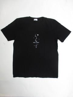 2020年春夏新作 サンローランパリ(SAINT LAURENT PARIS) メンズ トップス Tシャツ ロゴ 半袖 フロント擦れロゴ・ミスティークTシャツ ※マネキンSサイズ着用 ブラック 603286 YBPQ2 1095