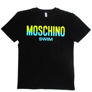 モスキーノ(MOSCHINO) メンズ トップス 半袖 Tシャツ 2color 蛍光 グラデーションMOSCHINOSWIMロゴ入りTシャツ ブラック/ホワイト 1902 2303 0001 / 0555