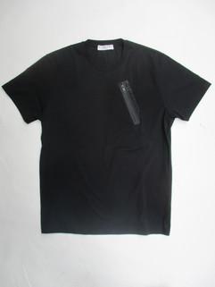 ジバンシー(GIVENCHY) メンズ トップス Tシャツ 半袖 ロゴ 2color チェスト部分GIVENCHYロゴ・ジップポケット付きTシャツ 白/黒 BM70WE 3002 100/1