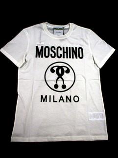 2020年春夏 モスキーノ(MOSCHINO) メンズ トップス Tシャツ 半袖 ロゴ オーバーサイズ 2color MOSCHINOロゴ・サークルロゴプリント付オーバーサイズTシャツ 白/黒 0706 2040 1001/1555