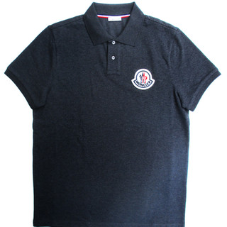 モンクレール MONCLER メンズ トップス シャツ ポロシャツ 半袖 ロゴ 2color チェスト部分MONCLERロゴワッペン付きポロシャツ 白 ダークグレー 8A71100 84556 004/988