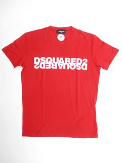 2020年春夏新作 ディースクエアード(DSQUARED2) メンズ トップス Tシャツ 半袖 ロゴ 3color DSQUARED2ビッグミラーロゴ付きTシャツ 白/黒/赤 S74GD0635 S22427 307/963X/900