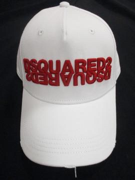 ディースクエアード(DSQUARED2) メンズ 帽子 キャップ ロゴ ユニセックス可 2color ダメージ加工・DSQUARED2ロゴ・反転ロゴ刺繍付キャップ 白/黒 BCM0282 05C00001 M1747/M063