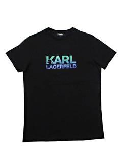 カールラガーフェルド(KARL LAGERFELD) メンズ トップス Tシャツ 半袖 ロゴ 2color フロントKARL LAGERFELDロゴプリント・バックネック部分ロゴ付Tシャツ 白/黒 755050 511224 10/990 (R20900)