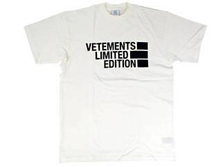 ヴェトモン(VETEMENTS) メンズ トップス Tシャツ 半袖 ロゴ 5色展開 LIMITED EDITION フロントVETEMENTSロゴ・バックロゴ刺繍付オーバーサイズTシャツ 白/黒 VE51TR810W/B 1611 WHITE/BLACK (R56100)