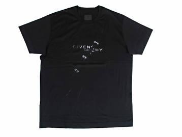 ジバンシー(GIVENCHY) メンズ トップス Tシャツ 半袖 ロゴ GIVENCHYロゴ・フープリングプリント付オーバーサイズTシャツ ブラック BM71333 Y6B 001 (R62700)