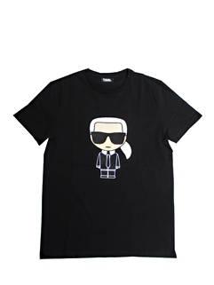 カールラガーフェルド(KARL LAGERFELD) メンズ トップス Tシャツ 半袖 ロゴ 2color フロントKARL LAGERFELDロゴ刺繍付きTシャツ 白/黒 755060 511250 10/990 (R28600)
