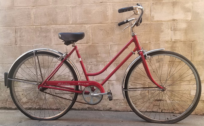 Vintage  3 speed 1977 Schwinn Breeze cruiser currently unrestored. 48cm 5'1-5'3