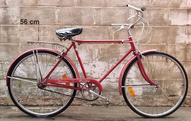 Vintage 1970s 3 speed Schwinn Racer currently unrestored. 56cm, 5'9-5'11