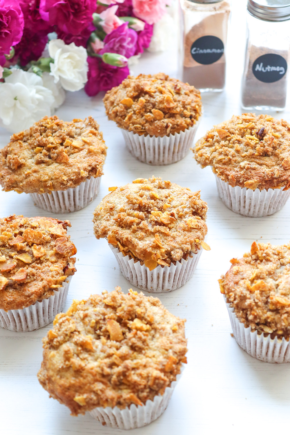 Food Photography by nb:social  – Plantain Muffins with a Plantain Streusel Topping using Mr Plantain's Sweet Cinnamon Crisps