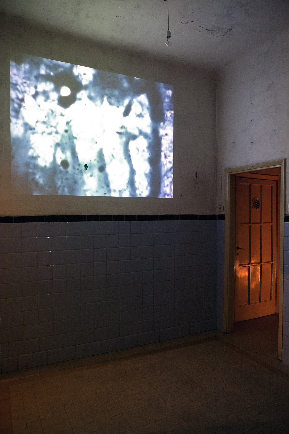 10.A Conversation (video installation view) 15 min. looped video and soundtrack e