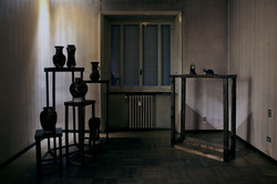 6.Morning (install view)Ceramic vessels and Bronze e