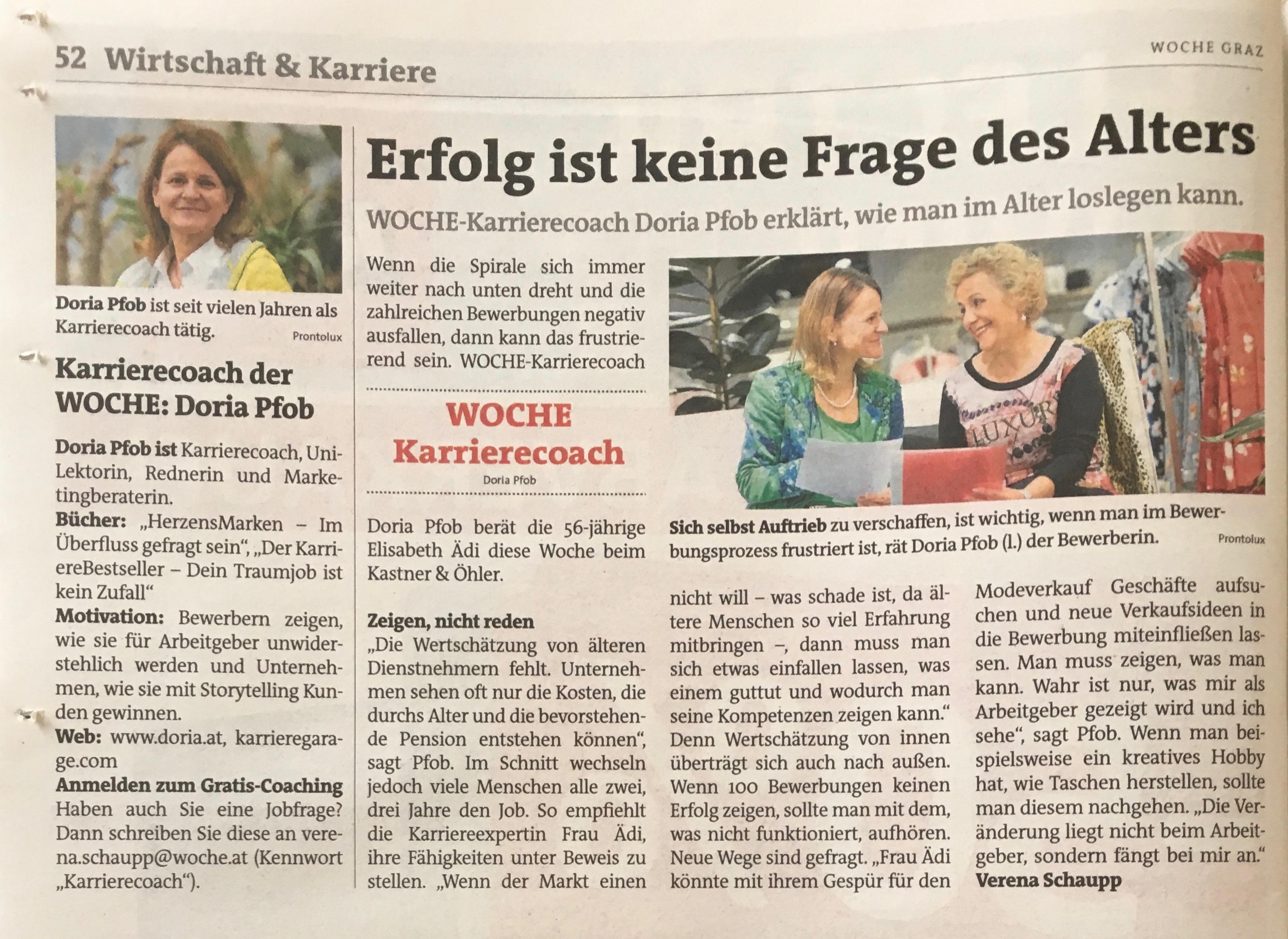 Doria Pfob Karrierecoach Woche2017