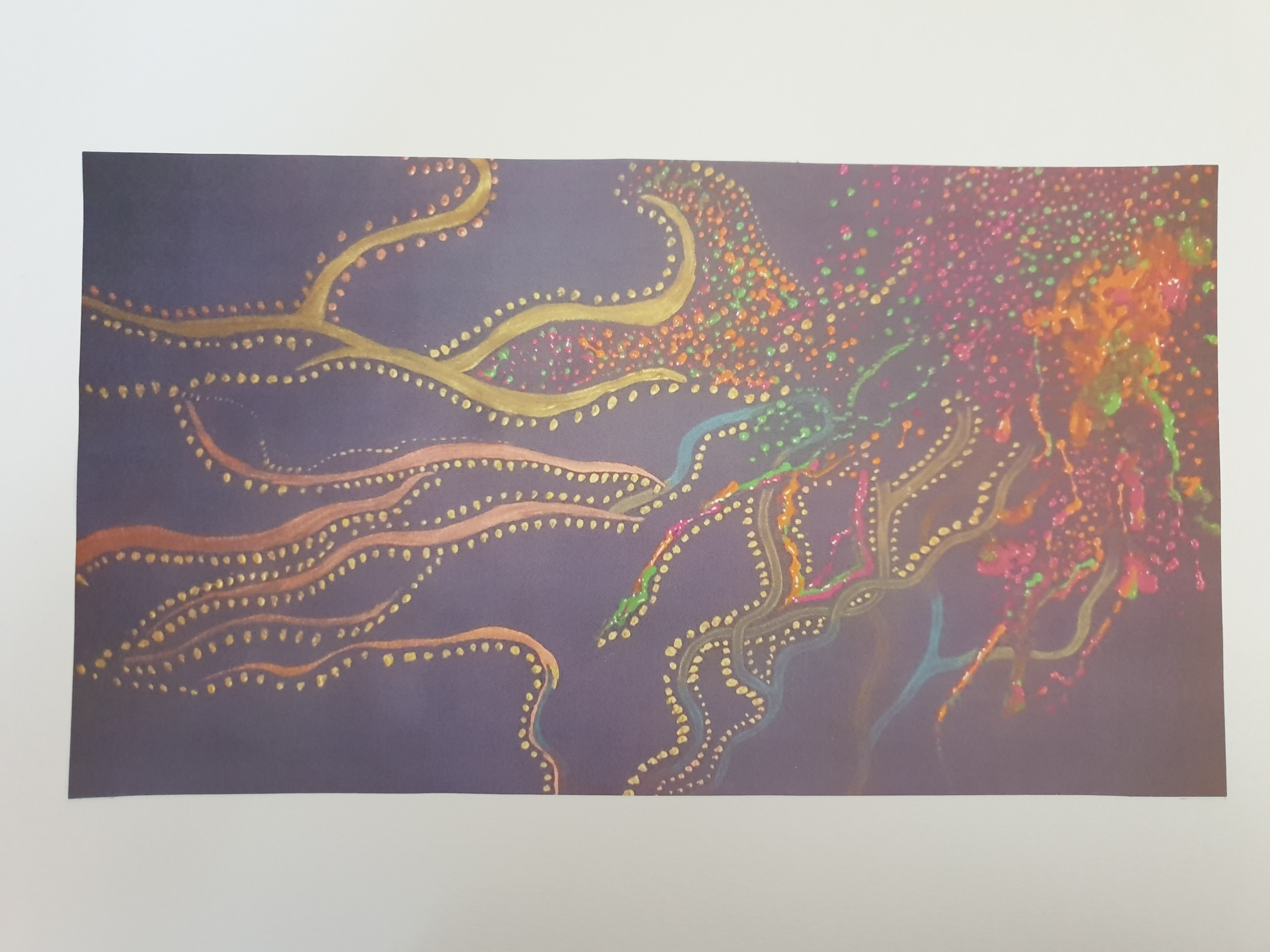 Creative Explosion (2015) - Acrylic and Pencil on Card