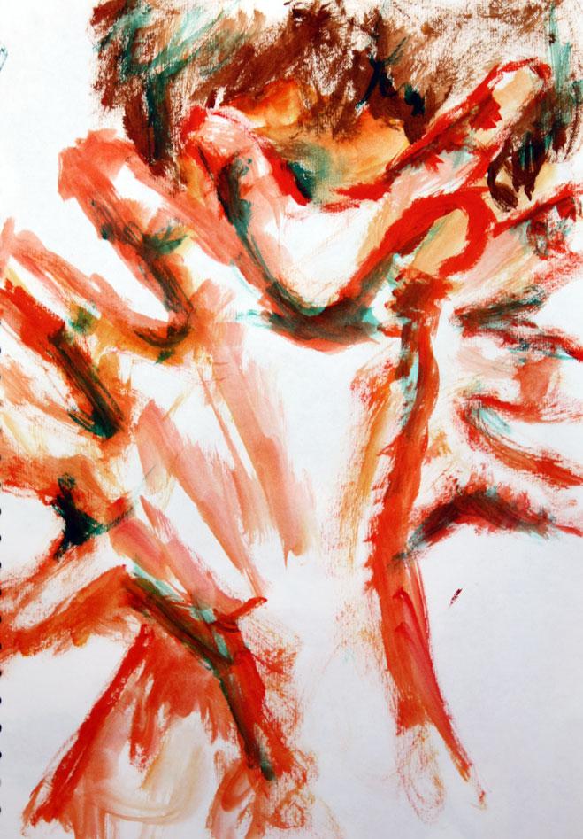 Portrait (2012) - Acrylic Paint on paper
