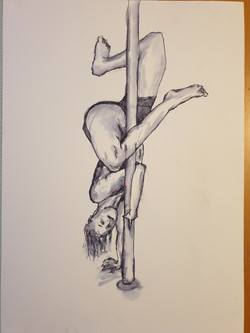 Life Drawing (2020) - Pen and water