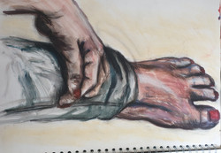 Life Drawing (2012) - Acrylic paint on paper