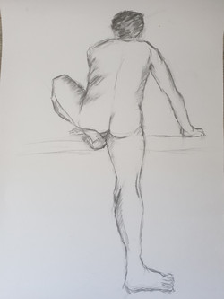 Life Drawing (2014) - Pencil on card