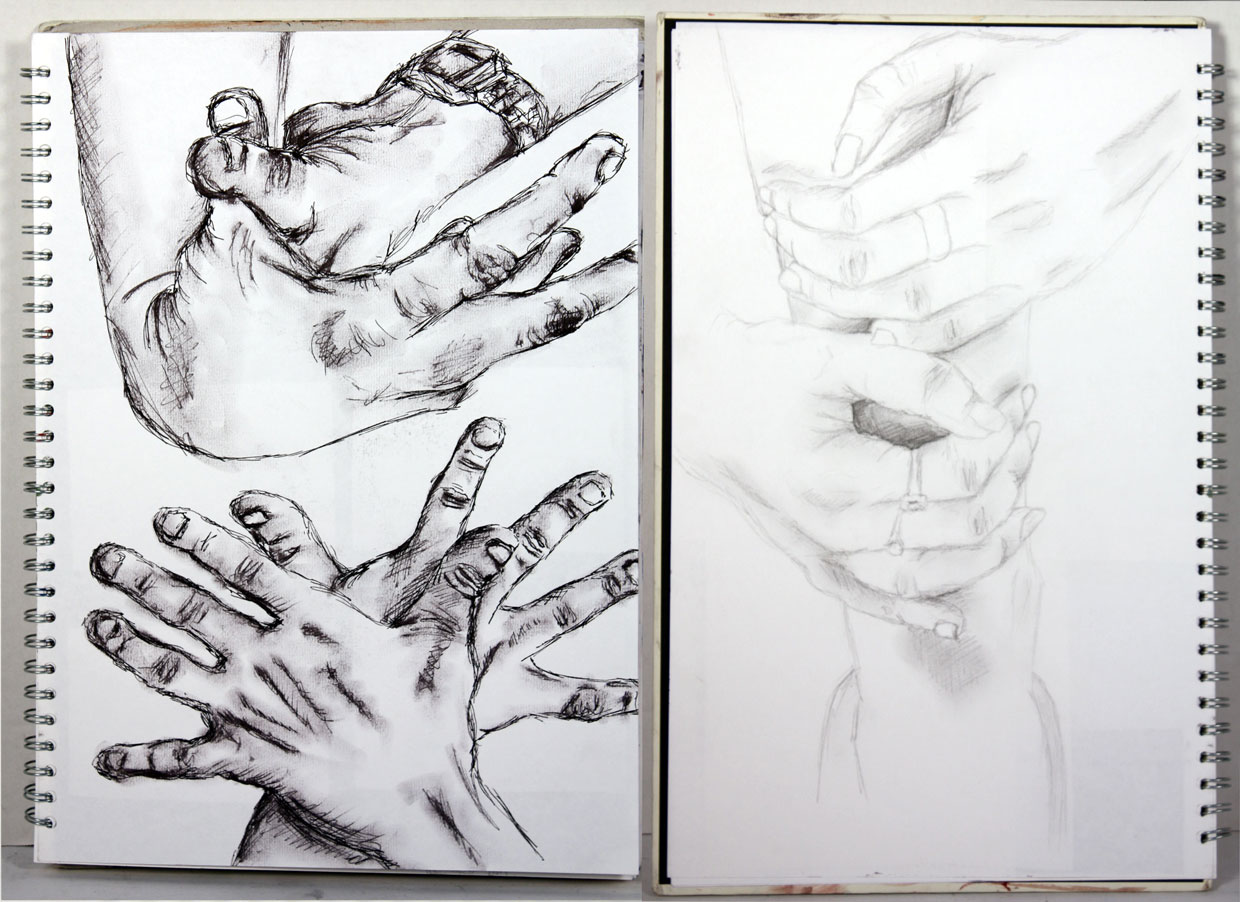 Life Drawing (2011) - Pen and Pencil sketches