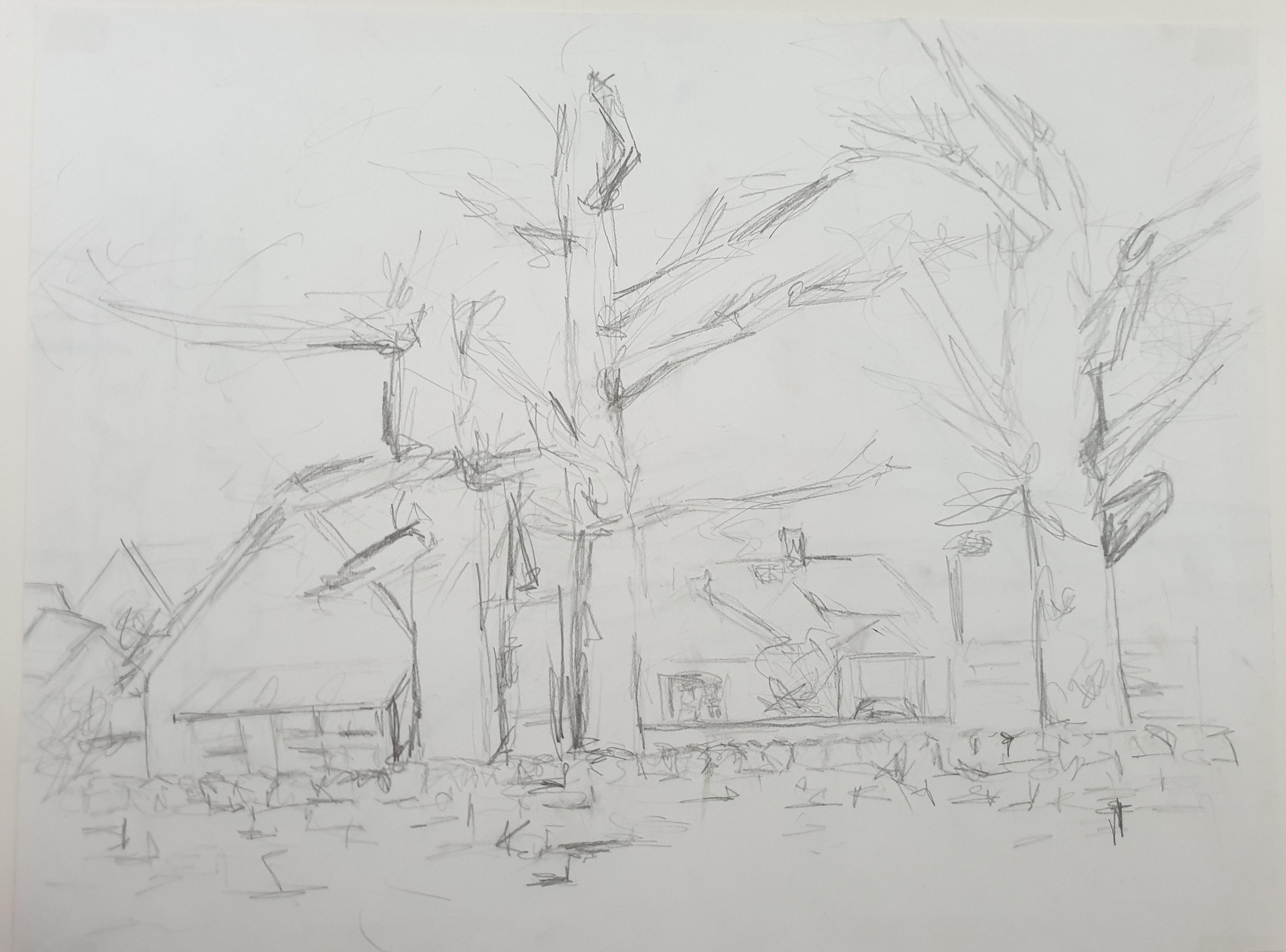 Arbroath (2013) - Pencil on Card