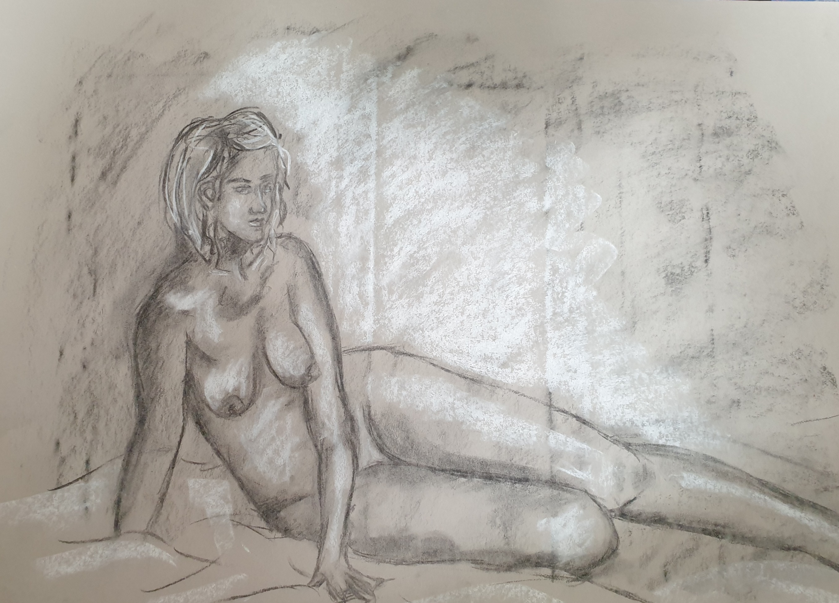 Life Drawing (2011) - Chalk on paper