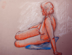 Life Drawing (2011) - Chalk/Pastel on paper